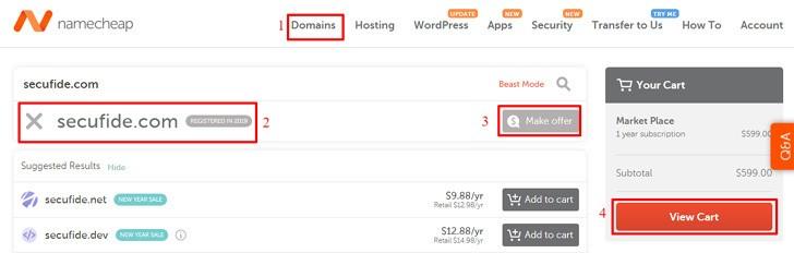 Premium domain name