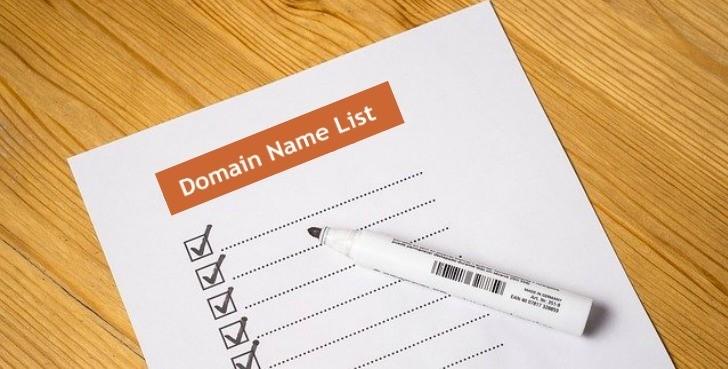 Domain name-list